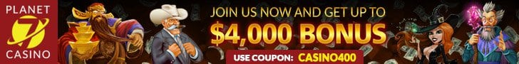Planet7 Casino online   400% Bonus PlayMode