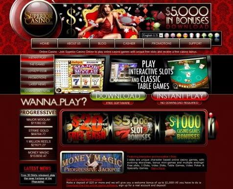 superior casino no deposit bonus codes