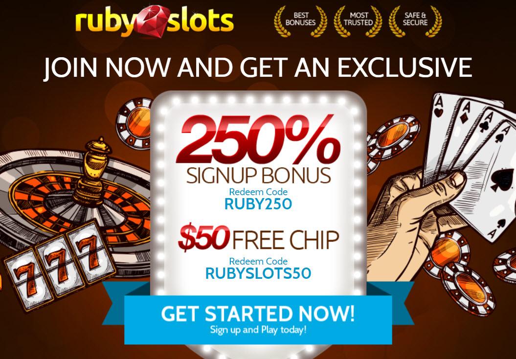 No deposit ruby slots 2020