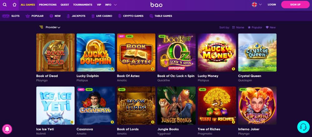 Bao Casino Games