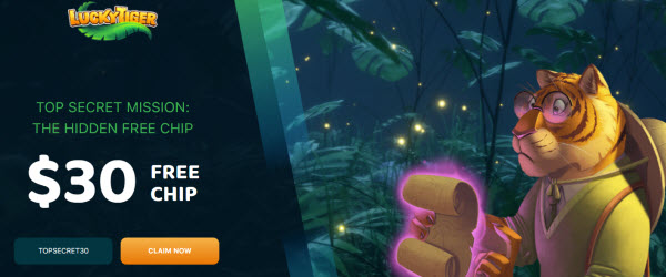 Lucky Tiger Casino no deposit bonus codes